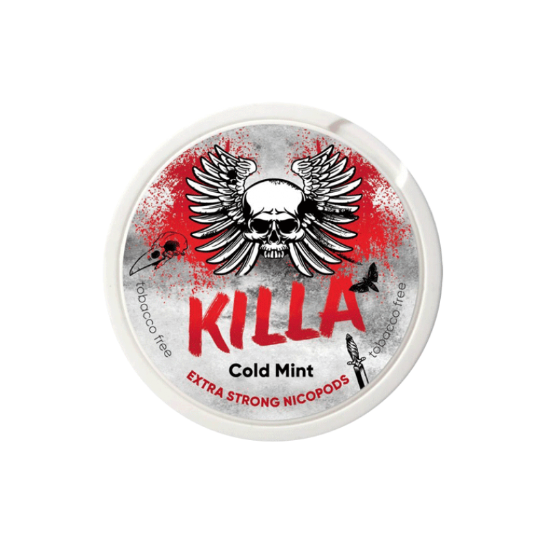 KILLA Snus Nikotiinipadjad | Cold Mint 25mg/g