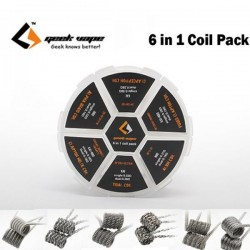 6 in 1 prebuilt coils | GeekVape